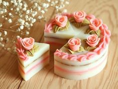 cute pretty cake wagashi