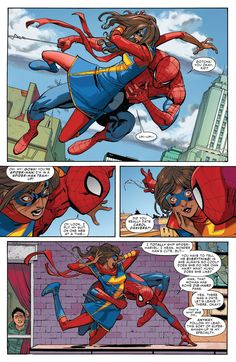 AmazingSpider-Man#7--p.9 | That time Kamala Khan met Spider-Man and totally geeked out.