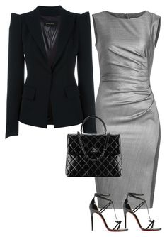 """Corporate world"" by cristalmichel ❤ liked on Polyvore featuring MaxMara, Plein Sud and Christian Louboutin"