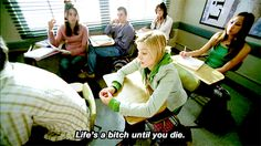 Kristen Bell, Veronica Mars, blonde, a quote.