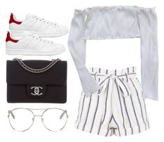 """""""Untitled #4389"""" by dkfashion-658 ❤ liked on Polyvore featuring Topshop, adidas Originals, Chanel and Chloé"""