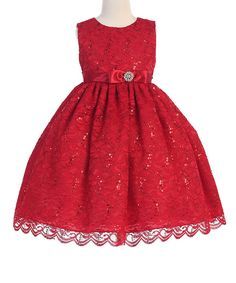 Look at this Crayon Kids Red Bow Sleeveless Flower Girl Dress - Toddler & Girls on #zulily today!