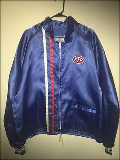 Vintage 80's STP Racing Richard Petty NASCAR Nylon Racing Jacket - Size XL by JourneymanVintage on Etsy