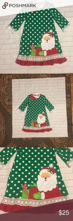 Bonnie Jean Christmas dress. 5 Only worn once. Excellent condition. Cotton/spandex mix. Super soft material Bonnie Jean Dresses