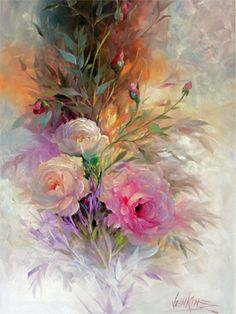 Gary Jenkins creates some of th emost beautiful oil florals i have ever seen. A true master of his craft