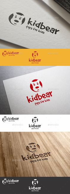 Funny Kid Bear Logo - Kid Bear Toys Logo Template – This is a unique, cute, memorable mascot logo for your business. Suitable for kids apparel, kindergarten, kids toys, games, kids production, children art classes identity, creative kids preschool, original child toys, kids clothes, businesses dealing with children, kids, kids stuff, play school, school stationery, etc.  Ideal also for media, tv-channel, geek, web developers, and many more…
