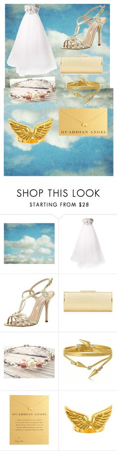 """""""The angel Hannah SPN"""" by chloe950 ❤ liked on Polyvore featuring Cloud Nine, Notte by Marchesa, Oscar de la Renta, Badgley Mischka, VICKISARGE, Dogeared and Emily Elizabeth Jewelry"""