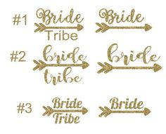 Bride Tribe Iron On Decal, Glitter Iron On, Bridal Party Iron On Transfer, Gift For Her