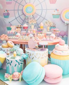 home party ideas Candy Theme Birthday Party, Candy Land Theme, Candy Party, First Birthday Parties, Birthday Party Decorations, Carnival Birthday, Birthday Ideas, Baby Girl Birthday, Turtle Birthday