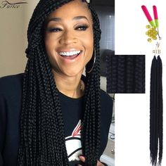 Box Braids Hairstyle Unique How To ➟ Crochet Box Braids Video  Pinterest  Crochet Box Black