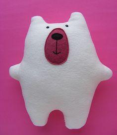 Warren the Charity Bear - a free teddy bear pattern from Shiny Happy World