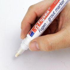Home Decor Tile Marker Repair Wall Pen White Grout Marker Odorless Non Toxic for Tiles Floor Grout Pen, Tile Grout, Grouting, Floor Grout, Wall And Floor Tiles, Tile Filler, Easy Tile, Galaxy Lights, Coloured Grout