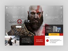 web layout for gaming website
