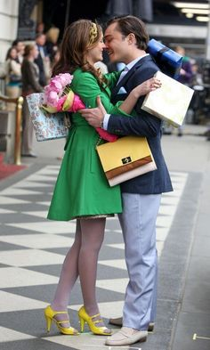 Blair and Chuck! the first time he said he loved her!!