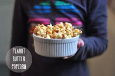 Peanut butter popcorn. Yum. MommyCoddle.com