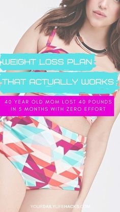 Weight loss plan that actually works. Learn how a 40 year old mom lost 10 pounds in 7 days without starving or exercising Help Me Lose Weight, Diet Plans To Lose Weight, Weight Loss Plans, Weight Loss Program, Fast Weight Loss, Healthy Weight Loss, Weight Loss Tips, Daily Life Hacks, Fast Diets