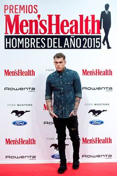 Stephen James at the Men's Health awards in Madrid