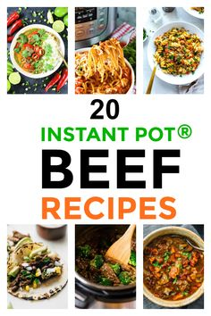 20 Instant Pot Beef Recipes It's no secret that the Instant Pot® makes quick work of cooking a meal and it works exceptionally well when preparing Pressure Cooker Spaghetti, Instant Pot Pressure Cooker, Stand Up Paddle Board, Potted Beef Recipe, Most Delicious Recipe, Delicious Dishes, Soup With Ground Beef, How To Cook Beef, Homemade Applesauce