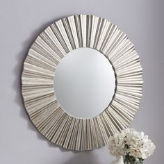 If you are looking for contemporary and elegant style all at once, the Sunburst Wall Mirror is simply perfect.