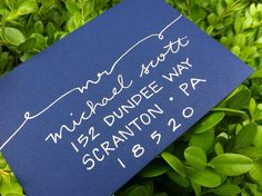 I want to start addressing envelopes like this!   Calligraphy for Wedding Invitations and by GreySnailPress on Etsy