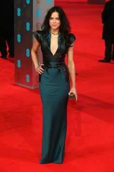 Michelle Rodriguez in Emilio de la Morena. BAFTA 2014. Gorgeous. I love this.