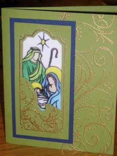 Beautiful card made with SU Holy Triptych stamps.