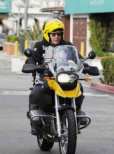 harrison ford on his adventure bike