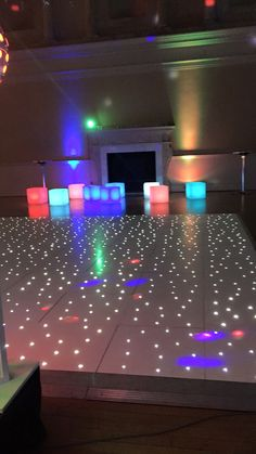Funky LED cube stools / seating available to hire