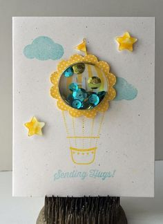 Sending Hugs card by Jill Yegerleher featuring Jillibean Soup Shape Shakers