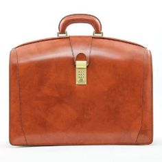 987b6883257f Pratesi Italian Leather Brunelleschi Triple Compartment Leather Lawyer s  Briefcase
