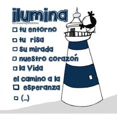 """Lámina """"Faro"""" My Diary, Feelings And Emotions, Happy Girls, Affirmations, Coaching, Life Quotes, Doodles, Clip Art, Inspirational Quotes"""