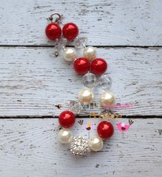 Stunning Red and ivory chunky necklace by MyLilSweetieBoutique, $25.00