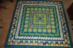 I did one of the borders in this Round Robin quilt.