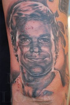 and i thought i was the biggest dexter fan. this person has me beat. i'm still getting my quote from the show tattooed on me though.