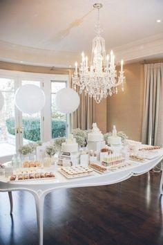 Chandelier tablesaped buffet