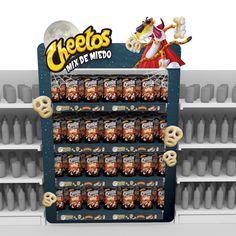 Bajada de campaña para Cheetos Halloween. Pos Display, Store Displays, Display Design, Pop Design, Stand Design, Cheetos, Kids Indoor Playhouse, Visual Merchandising Displays, Point Of Purchase