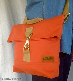 Crossbody Slim Canvas Bag | As functional as it is good-looking, this handsome canvas cros... | Cross-Body Handbags