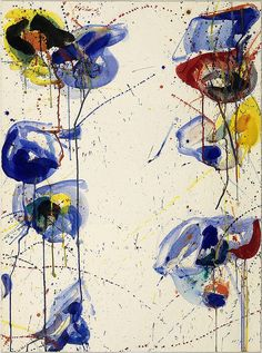 "elegantiaearbiter: ""Untitled, by Sam Francis, Smithsonian American Art Museum, Washington. Tachisme, Action Painting, Jackson Pollock, Contemporary Abstract Art, Modern Art, Sam Francis, Robert Motherwell, American Artists, Abstract Expressionism"