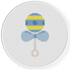 FREE for Feb 28th 2016 Only - Baby Rattle Cross Stitch Pattern