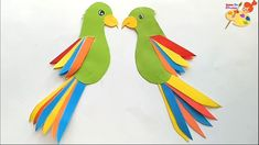 How to make a paper parrot.easy craft for kids