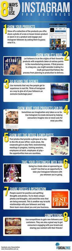 8 Ways To Use Instagram For Business #SocialMedia #Instagram http://designinfographics.com?utm_content=bufferde763&utm_medium=social&utm_source=pinterest.com&utm_campaign=buffer http://arcreactions.com/services/graphic-design/?utm_content=bufferce8c8&utm_medium=social&utm_source=pinterest.com&utm_campaign=buffer