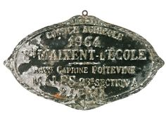 Vintage French Aluminum Award Plaque - 1964 - Relique