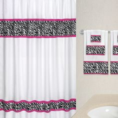 Cotton Zebra Shower Curtain