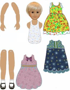 Free articulated paper doll