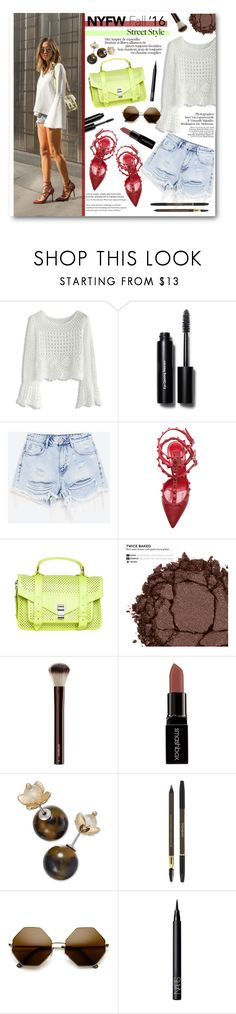 """NYFW"" by buttercup-on-fire ❤ liked on Polyvore featuring Chicwish, Bobbi Brown Cosmetics, Valentino, Proenza Schouler, Urban Decay, Hourglass Cosmetics, Smashbox, Charter Club, Yves Saint Laurent and ZeroUV"