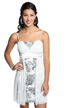 Deb sequin party dress with flyaway front