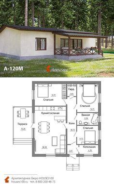 Village House Design, Village Houses, Compact House, Cottage Plan, House Plans, New Homes, Floor Plans, Exterior, Cabin