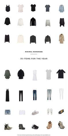 the no. of things Minimal Wardrobe Update | hej doll | Bloglovin'