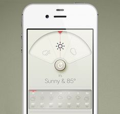 David Elgena created this Braun/Dieter Rams inspired weather iphone app called Wthr