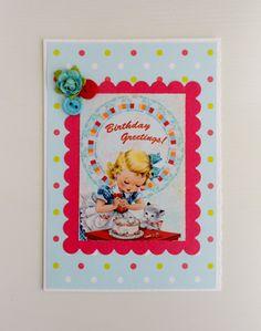 little girls birthday card £1.50